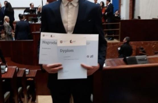 Obrazek newsa Jakub otrzymał nagrodę Marszałka Województwa Śląskiego