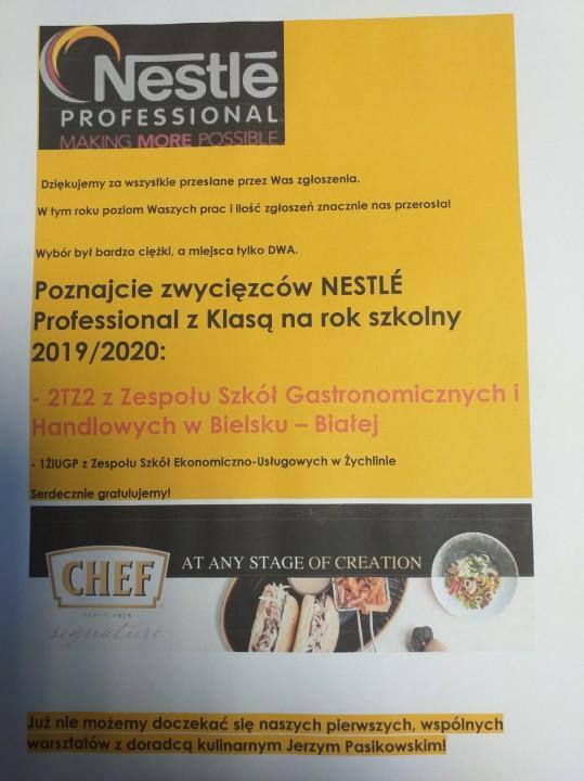 Obrazek newsa 2TŻ2 zwycięzcą konkursu NESTLÉ Professional